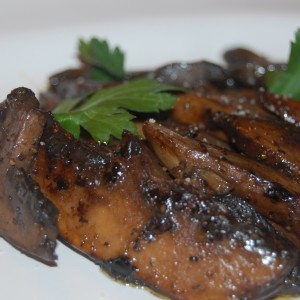 Sauteed Portabella Mushrooms in a balsamic and butter sauce