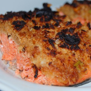 Wasabi Crusted Asian Salmon