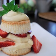 Brown Sugar Shortcakes with Balsamic Strawberries & Lemon Cream