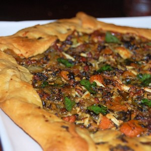 Caramelized Leek, Onion and Carrot Galette