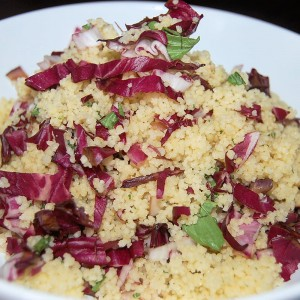 Herbed Couscous with Grilled Radicchio and Lemon