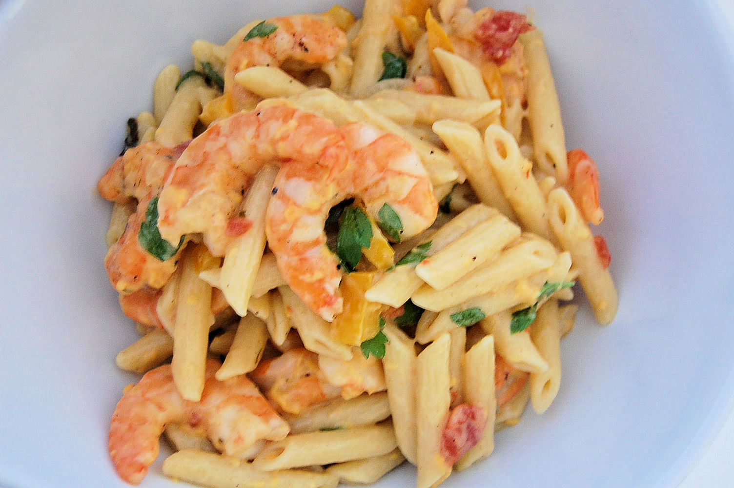 perfectly-light-shrimp-enchilada-pasta
