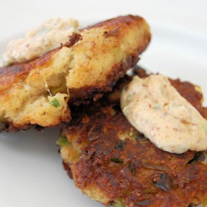Green Chile Crab Cakes