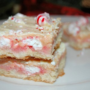 Christmas Cookies- Peppermint  Cream Bars
