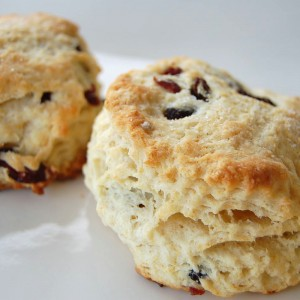 Spiced Eggnog Biscuits with Cranberries