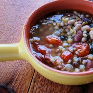 Roasted Tomato Seven Bean Soup