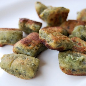 GreensLove- Crusted Spinach and Red Pepper Gnocchi
