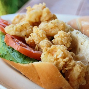 Fried Shrimp Po-boy with Jalapeno Lime Ailoi