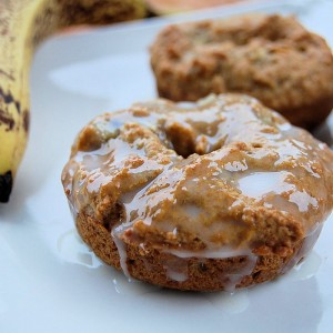 Whole Wheat Flaxseed Banana Donuts