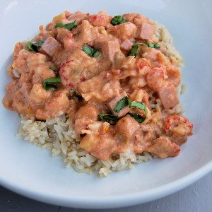 Apache Bread + Crawfish Etouffee