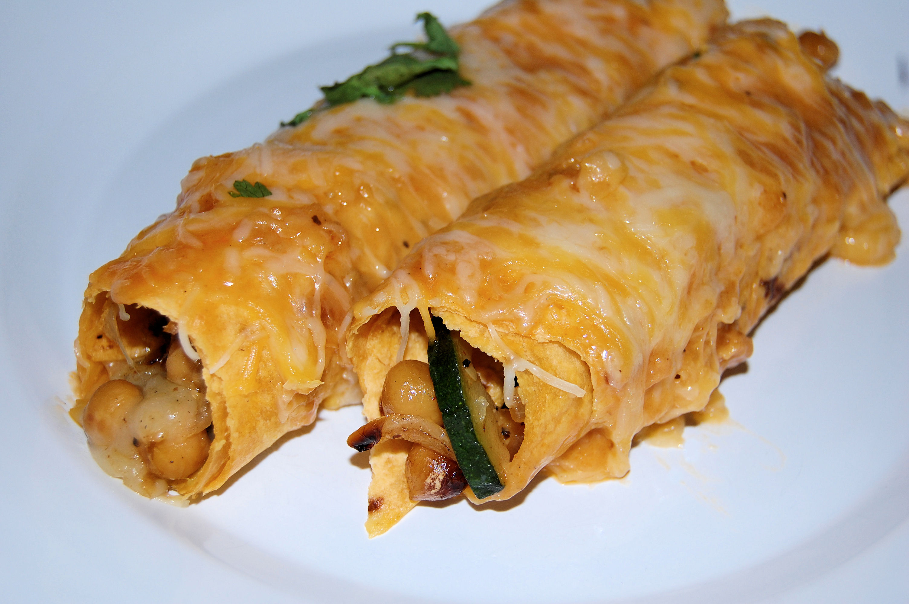 chickpea-and-zucchini-enchiladas-with-roasted-chipotle-sauce