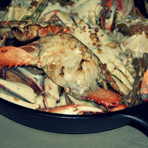 Garlic+Butter Baked Blue Crabs- Instagram Week
