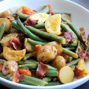 Grilled Lemon, Green Bean and Tomato Salad with Pacific Rim Ginger Sauce