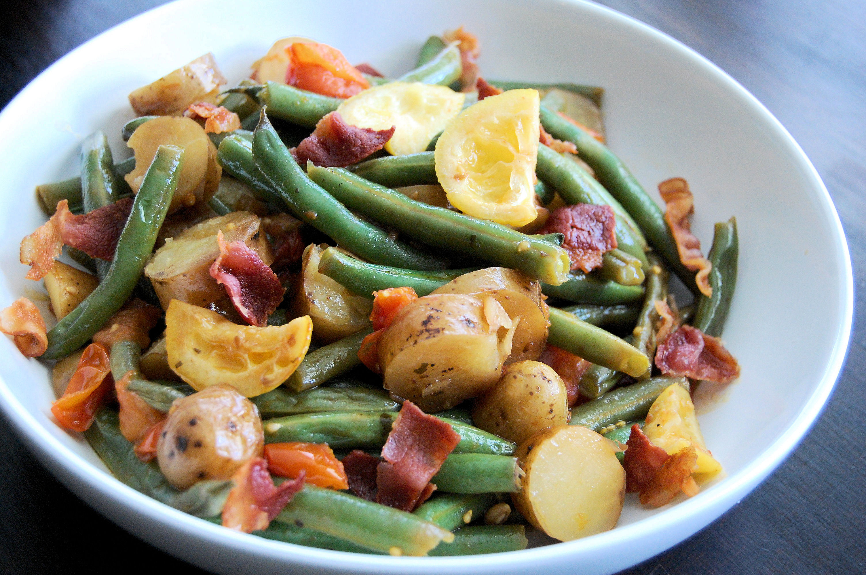 grilled-lemon-green-bean-and-tomato-salad-with-pacific-rim-ginger-sauce
