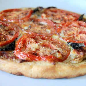 Tomato and Onion Tart with Cornmeal Crust- SRC & Christmas Hampers?