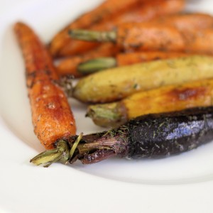 Dill Glazed Roasted Cast Iron Skillet Carrots- Easter Side
