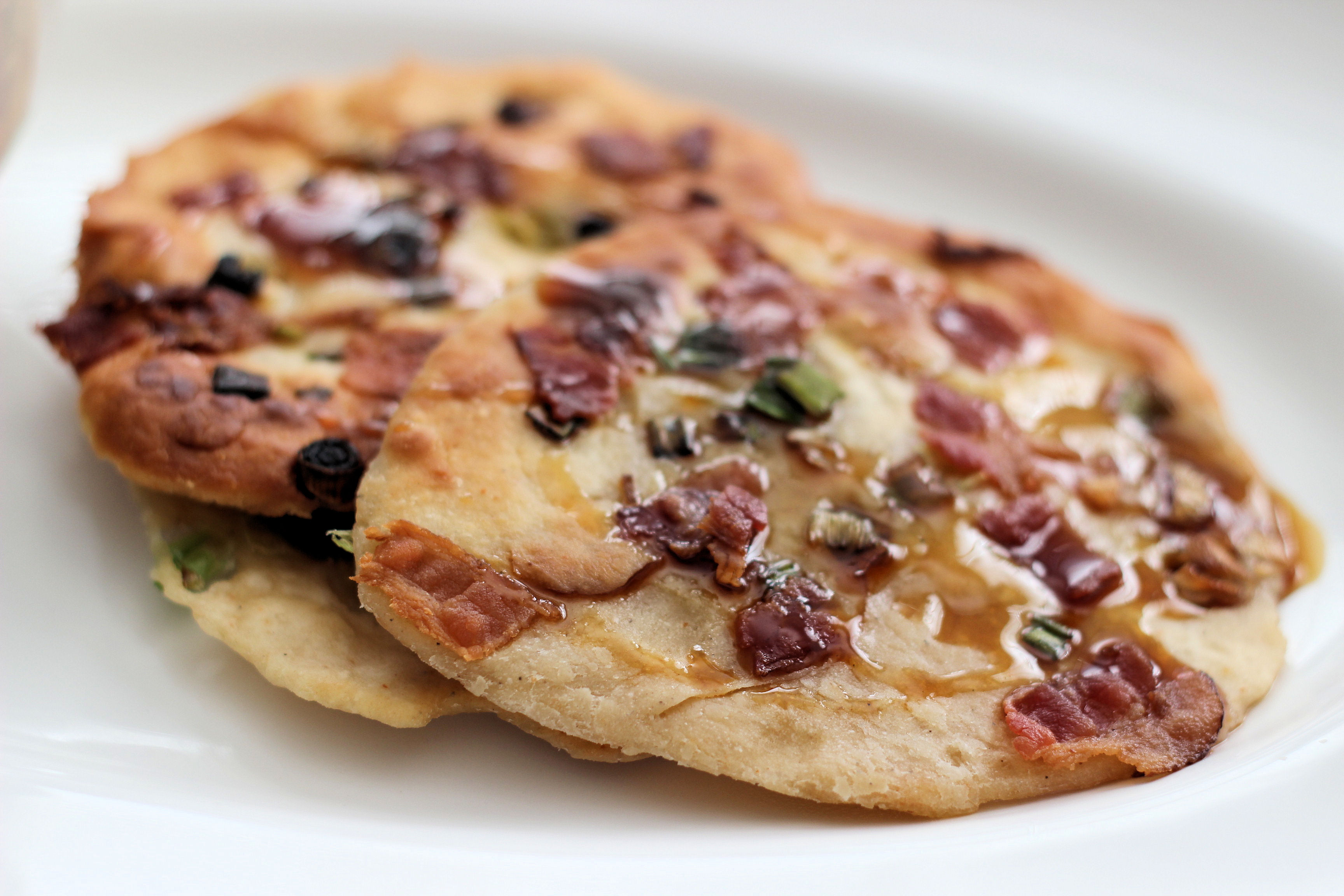scallion-bacon-pancakes-with-crown-maple-dipping-sauce