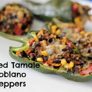 Stuffed Tamale Roasted Poblano Peppers
