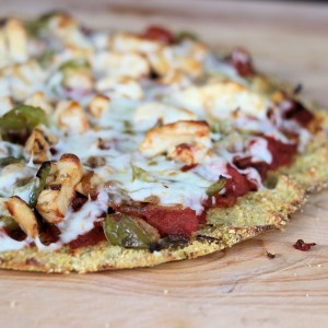 The Perfect Cauliflower Cornmeal Pizza Crust-Gluten Free