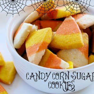 Halloween Candy Corn Sugar Cookies
