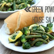 Green Powerhouse Salad with Lemon Peppercorn Dressing